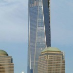 The Freedom Tower up close - reflecting the sun.