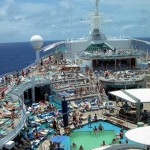 The massive Royal Caribbean Explorer of the Seas