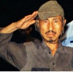 Hiroo Onoda in 1974 wearing his 30-year old uniform