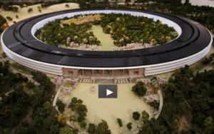 A 3D moeA model of the new apple campus