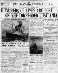 Lusitania , UBoat,  WW1