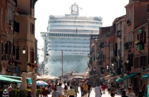 Giant ship near Venice