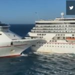 Cruise ships collide; it's almost funny . . . but it's not